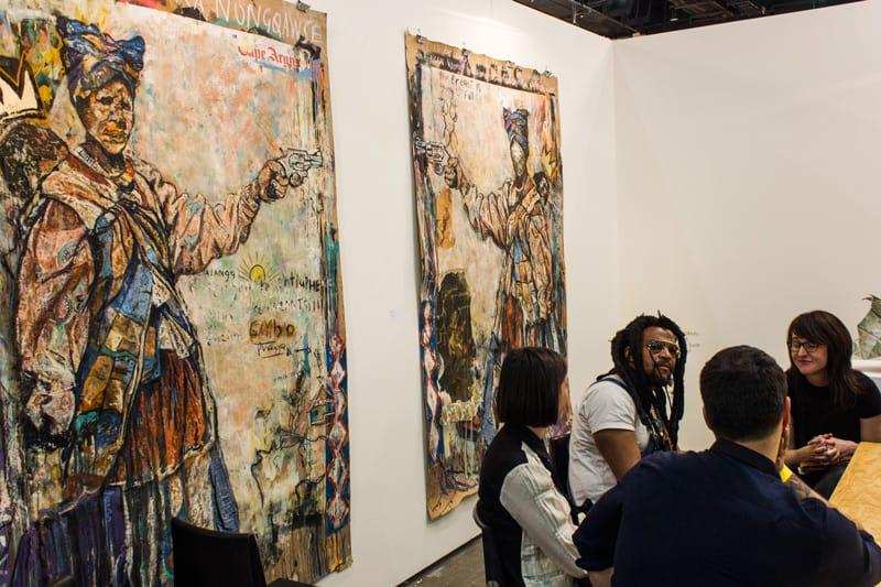 Tebogo Moche auf der Joburg Art Fair-18