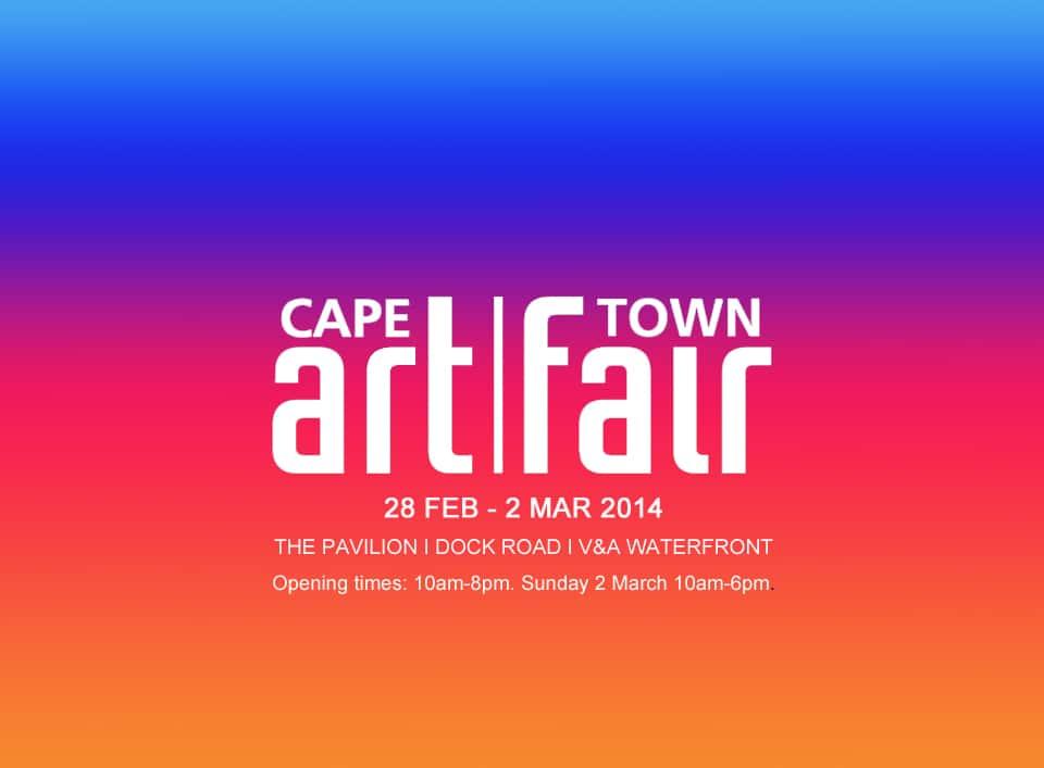 Banner de la feria de arte de Ciudad del Cabo