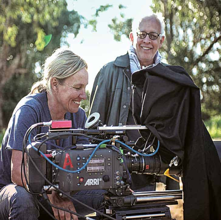 Director Ian Gabriel and Cinematographer Vicci Turpin on the set of Four Corners