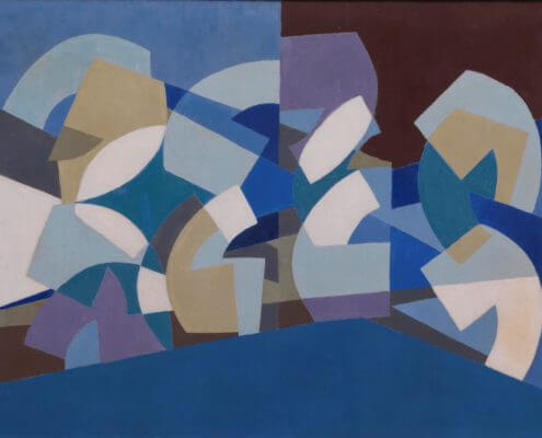 Saloua Raouda Choucair - Composition in Blue Module 1947-51