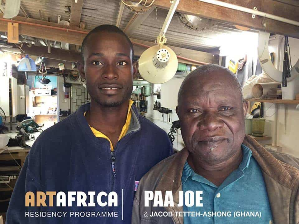 Paa Joe and his son, Jacob Tetteh-Ashong. Copyright Art Africa magazine.