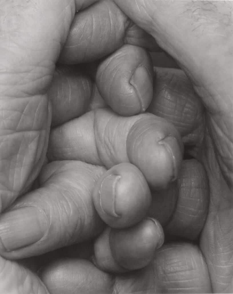 John Coplans, Interlocking Fingers N°15, 2000. 86 x 69cm. Photograph. Image courtesy of Galerie Anne de Villepoix