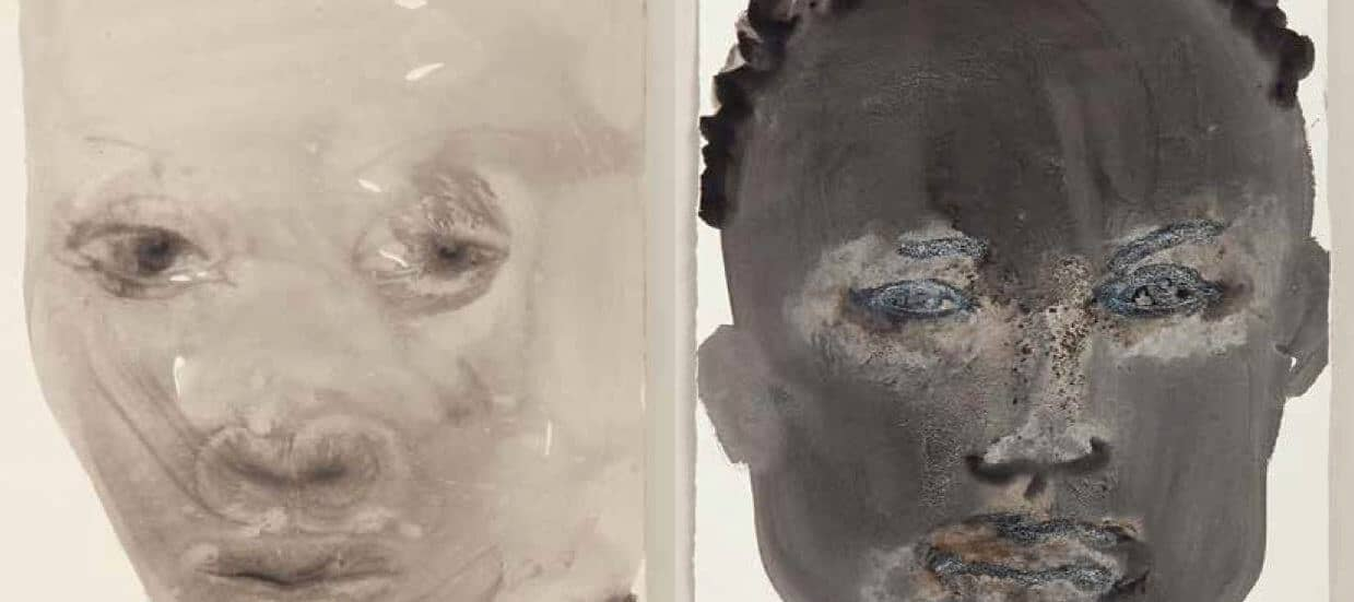 Marlene Dumas, from the series 'Models', 1994, watercolour and ink-wash on paper, 62 x 50 cm (each). Image courtesy of the artist.