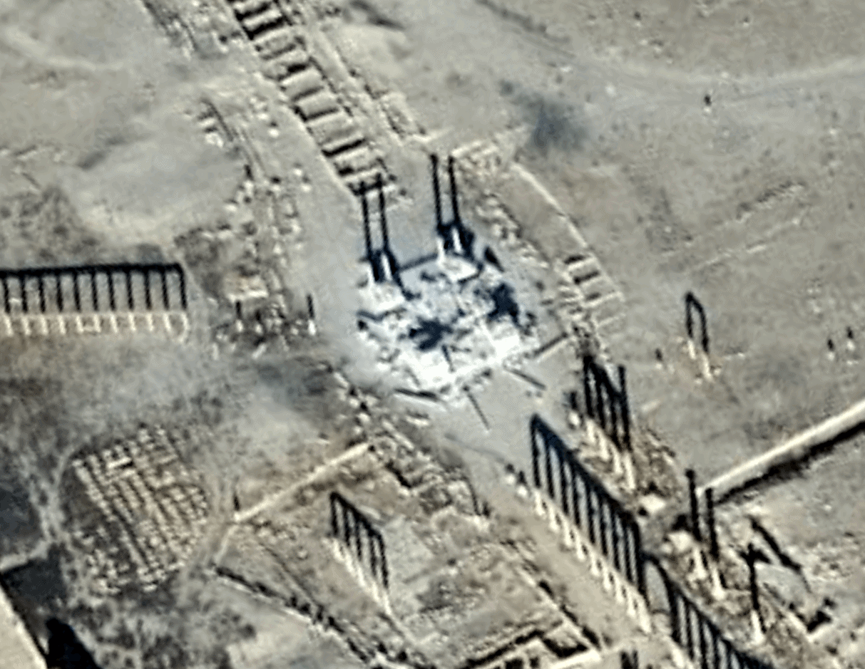 UNOSAT Palmyra Tetrapylon 10 January 2017
