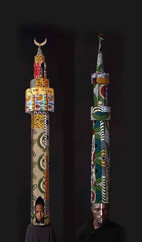 Maimouna Guerresi-Afro-Minarett, 2010, Lambda-Druck 200 x 54 cm, © Maimouna Guerresi, mit freundlicher Genehmigung von ITOR