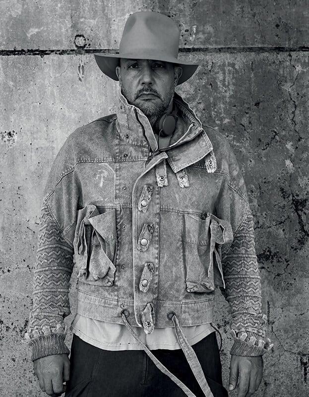 Stefan Simchowitz. Jacket by Bernhard Wilhelm. Malibu, CA.