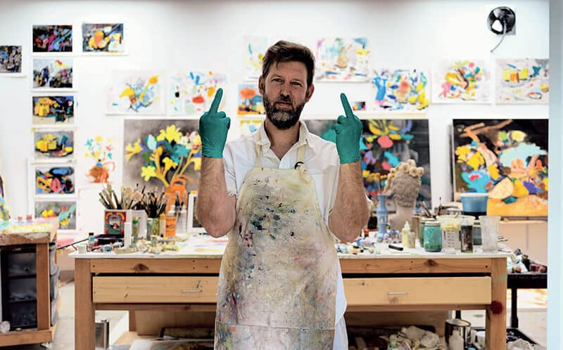 Marc Horowitz in his studio. Altadena, CA. © Stefan Simchowitz.