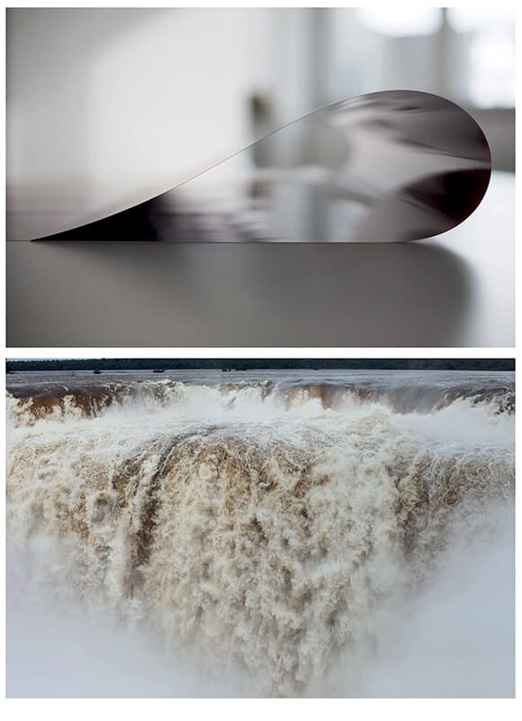 ABOVE: Wolfgang Tillmans, Paper drop Prinzessinnenstrasse, 2014. © Wolfgang Tillmans. BELOW: Wolfgang Tilmans, Iguazu, 2010. © Wolfgang Tillmans. Images courtesy of the Tate Modern.