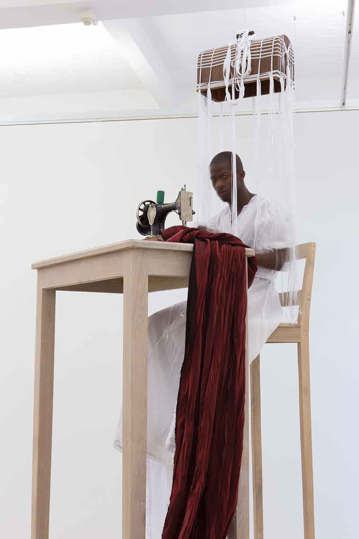 Nicholas Hlobo, UmBhovuzo: The Parable of the Sower, 2016. Performance. © Nicholas Hlobo. Courtesy of Stevenson, Cape Town and Johannesburg. Photo: Mario Todeschini