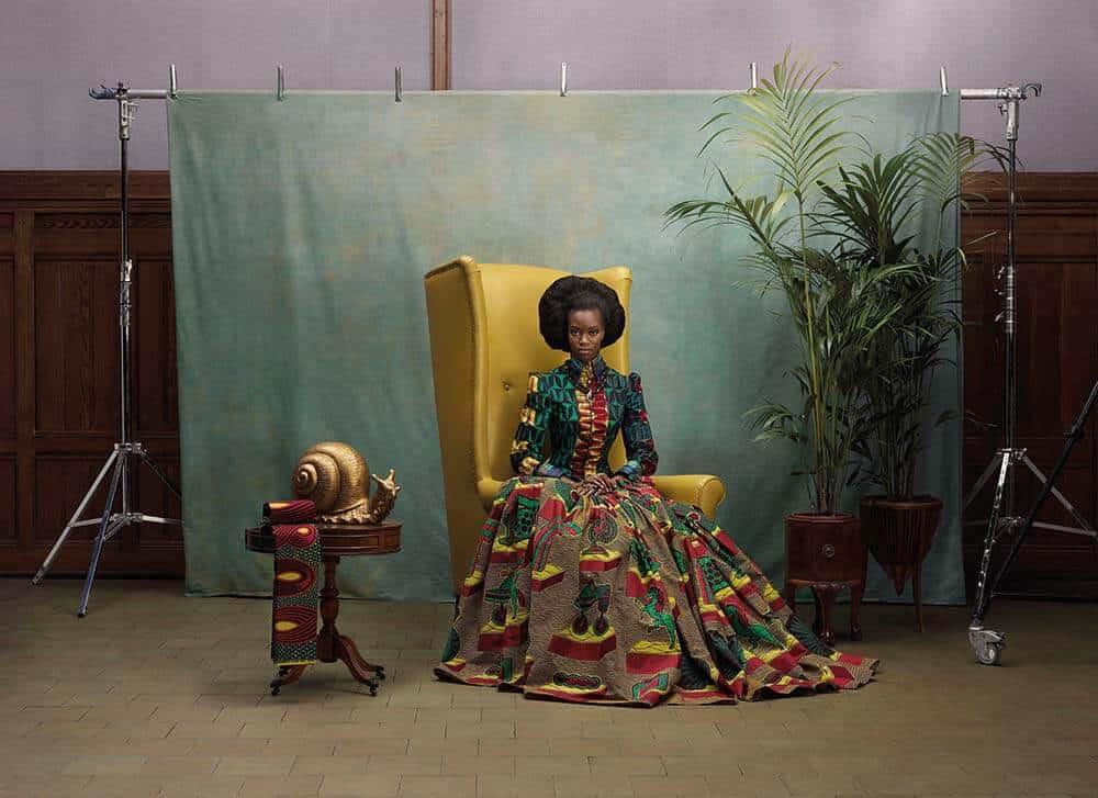 """Inge van Lierop, Vlisco, the Netherlands Dress """"Hommage à L'Art"""" collection, 2013. Vlisco wax print. Image courtesy of the Vlisco Museum, Foundation Pieter Fentener van Vlissingen, Helmond, the Netherlands"""