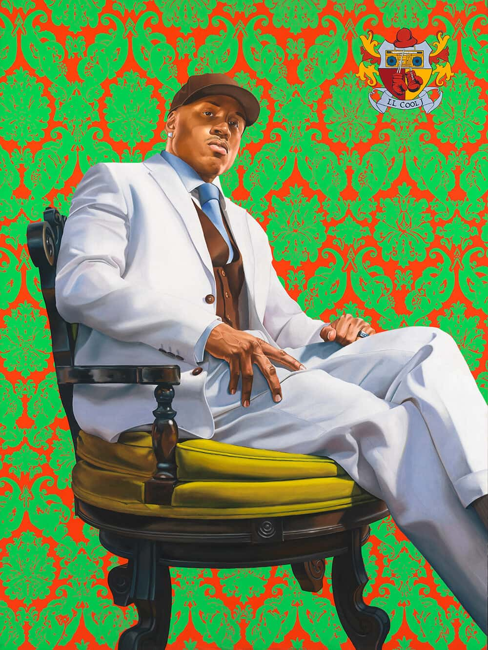 LL Cool J by Kehinde Wiley, oil on canvas, 2005. National Portrait Gallery, Smithsonian Institution; on loan from LL Cool J © Kehinde Wiley. Courtesy of Smithsonian National Portrait Gallery.