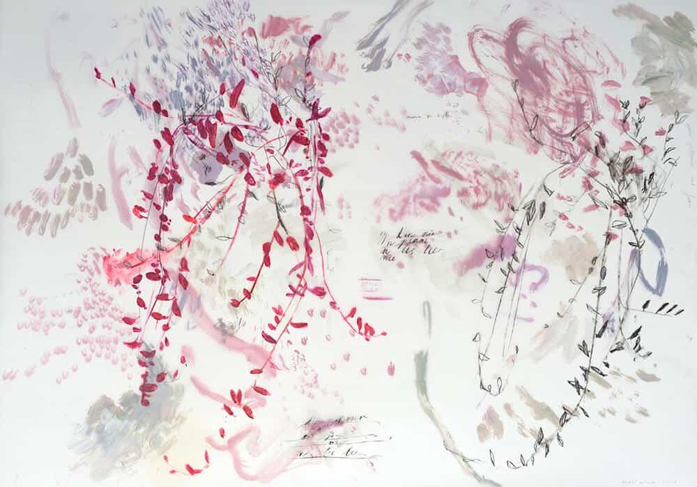 Elsabé Milandri, Lektion, Donnerstag, 2017. Acryl, Conte und Bleistift auf Zeichnung lm und Papier, 64 x 90 cm. Mit freundlicher Genehmigung des Künstlers & SMITH.