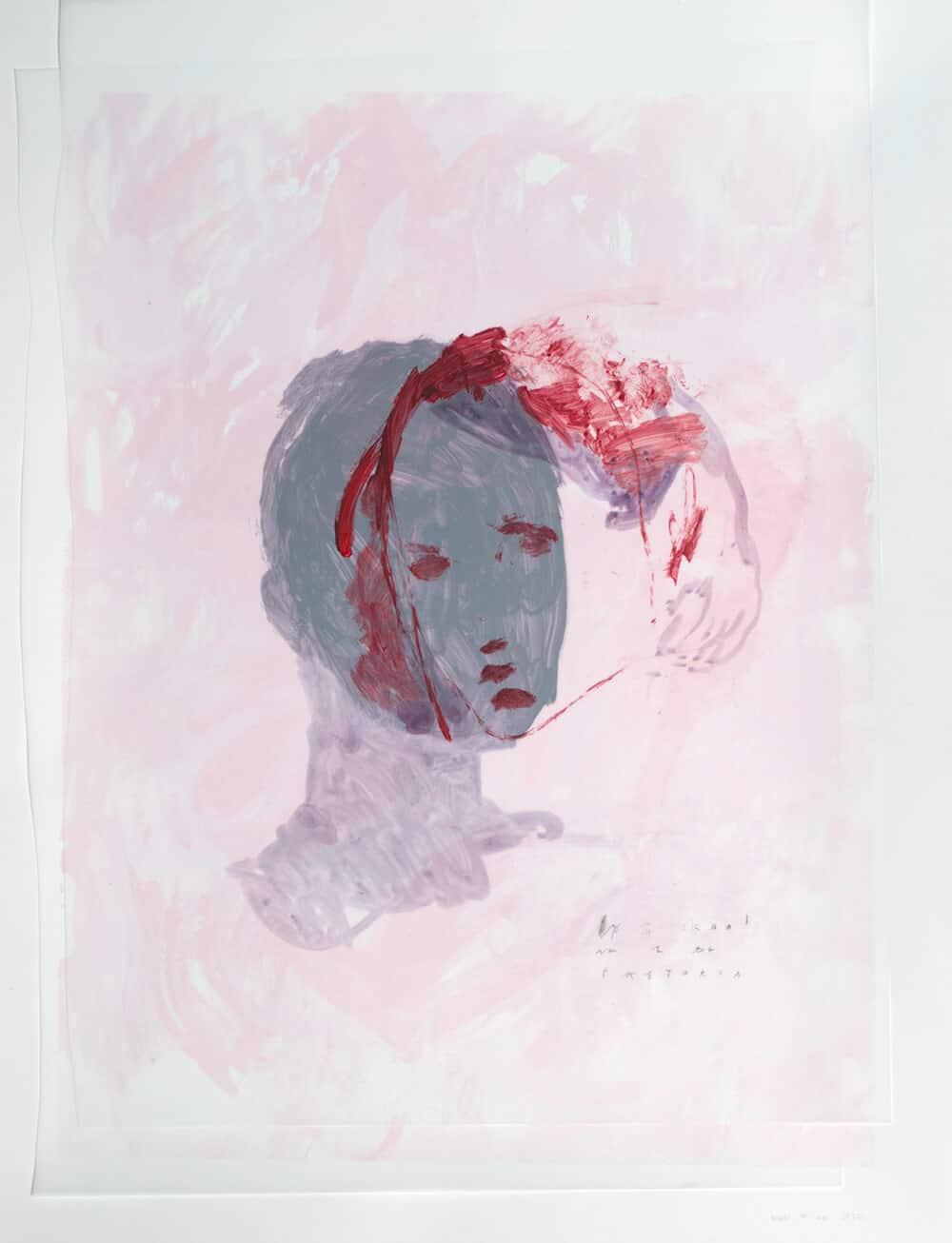 Elsabé Milandri, Op 'n Skaal van 1 bis Pretoria, 2017. Acryl auf Zeichenfilm und Siebdruck-Monotypie, 66 x 51 cm. Mit freundlicher Genehmigung von SMITH.