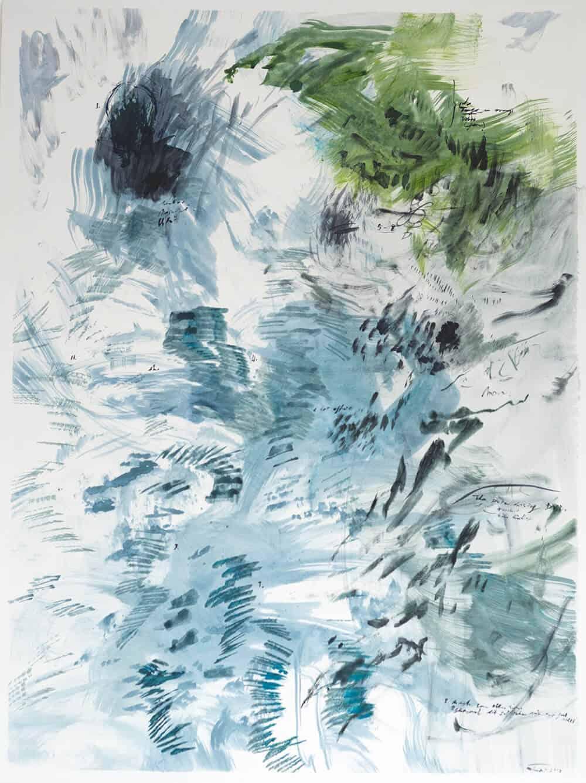 Elsabé Milandri, Timbre Mapping, 2017. Acryl auf italienischer Baumwollleinwand, 120 x 90 cm. Mit freundlicher Genehmigung von artist & SMITH.
