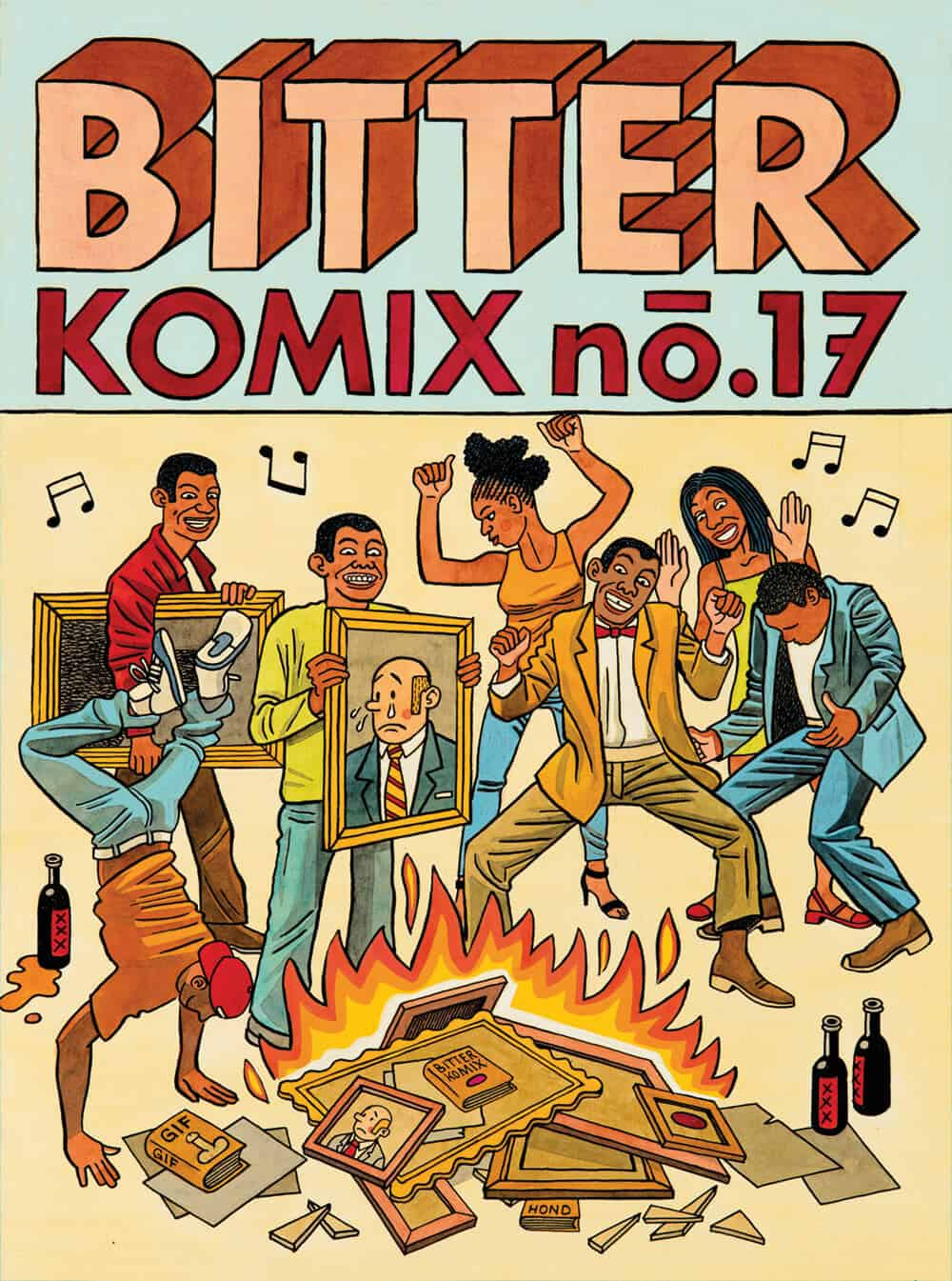 Cover image of Anton Kannemeyer and Conrad Botes' Bittercomix No.17, 2016. Image courtesy of the artists.