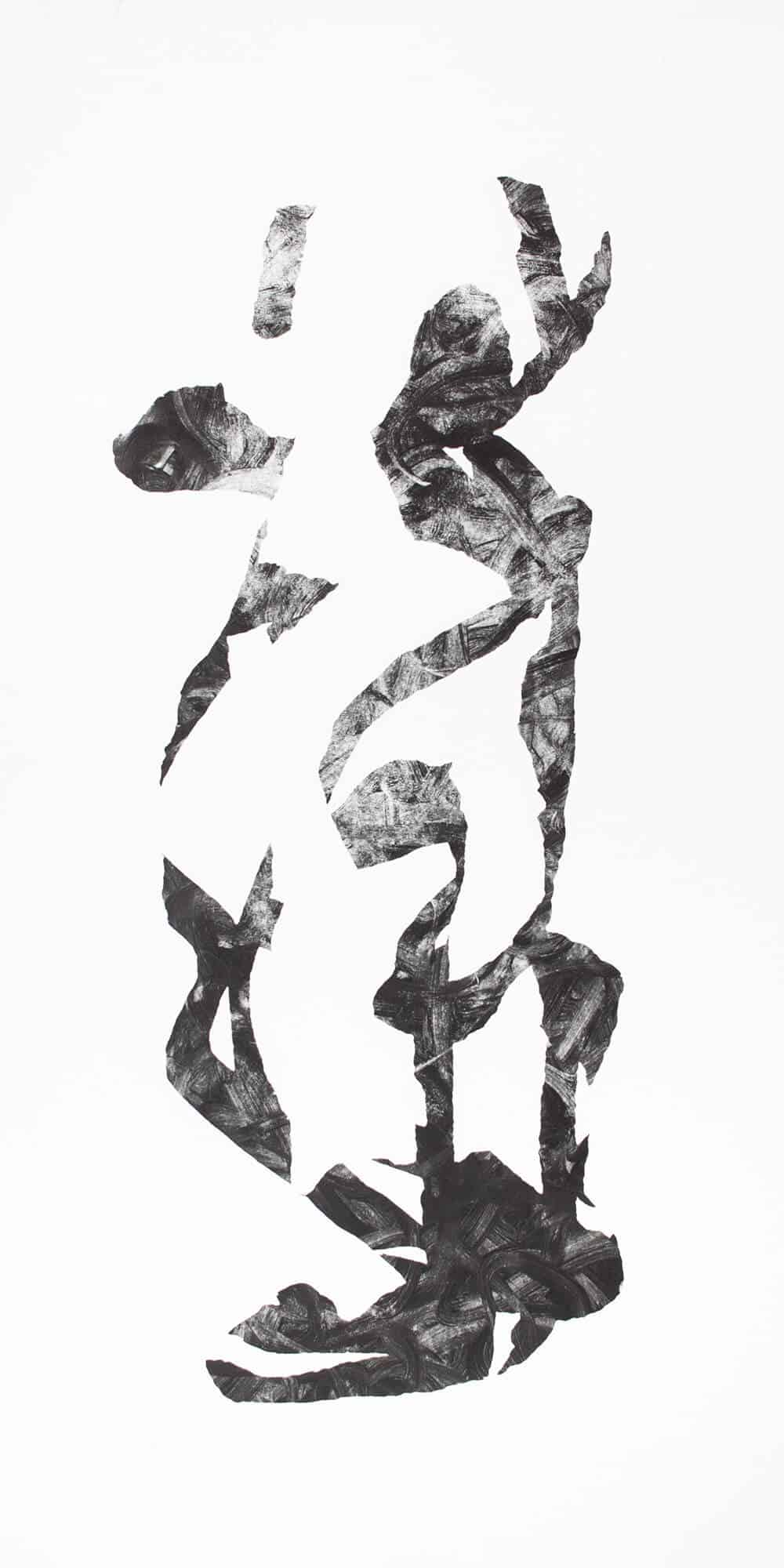 Dale Lawrence, Garnish for the Salad, 2017. Monotipo su carta, 100 x 50 cm. Per gentile concessione di SMITH Studios