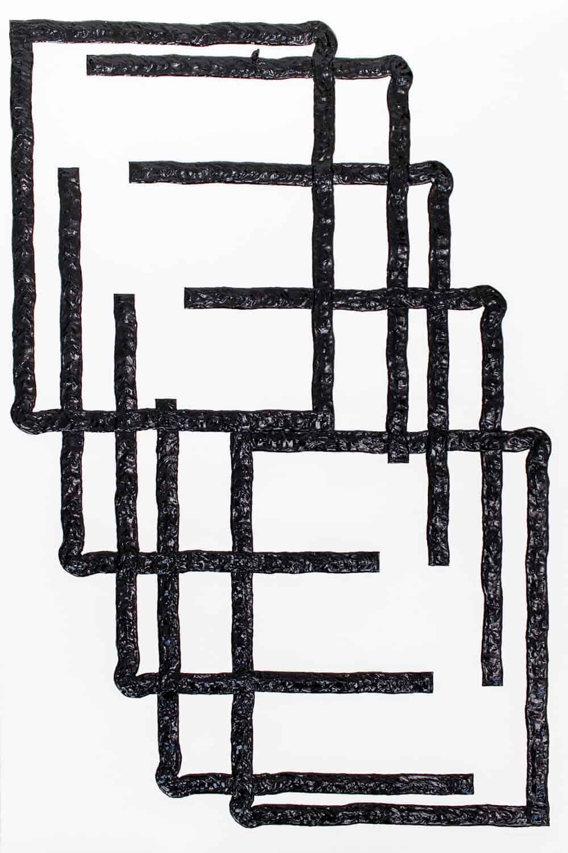 Dale Lawrence, Acquisition, 2017. Acrilico su carta, 120 x 80 cm. Per gentile concessione di SMITH Studios.