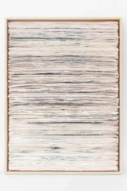 Dale Lawrence, Waste Management, 2017. Linoleografia su carta, monotipo su carta, 76 x 56 x 6 cm. Per gentile concessione di SMITH Studios.