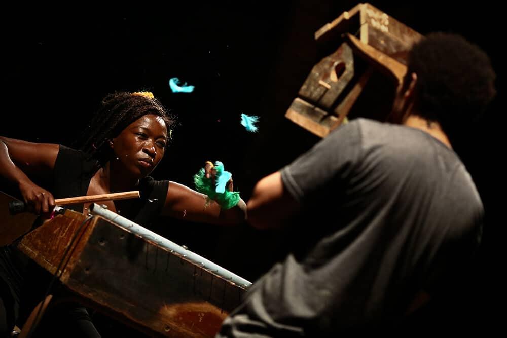 Kemang Wa Lehulere, I cut my skin to liberate the splinter, 2017. Photo credit: Paula Court. Courtesy of the photographer & Performa 17.