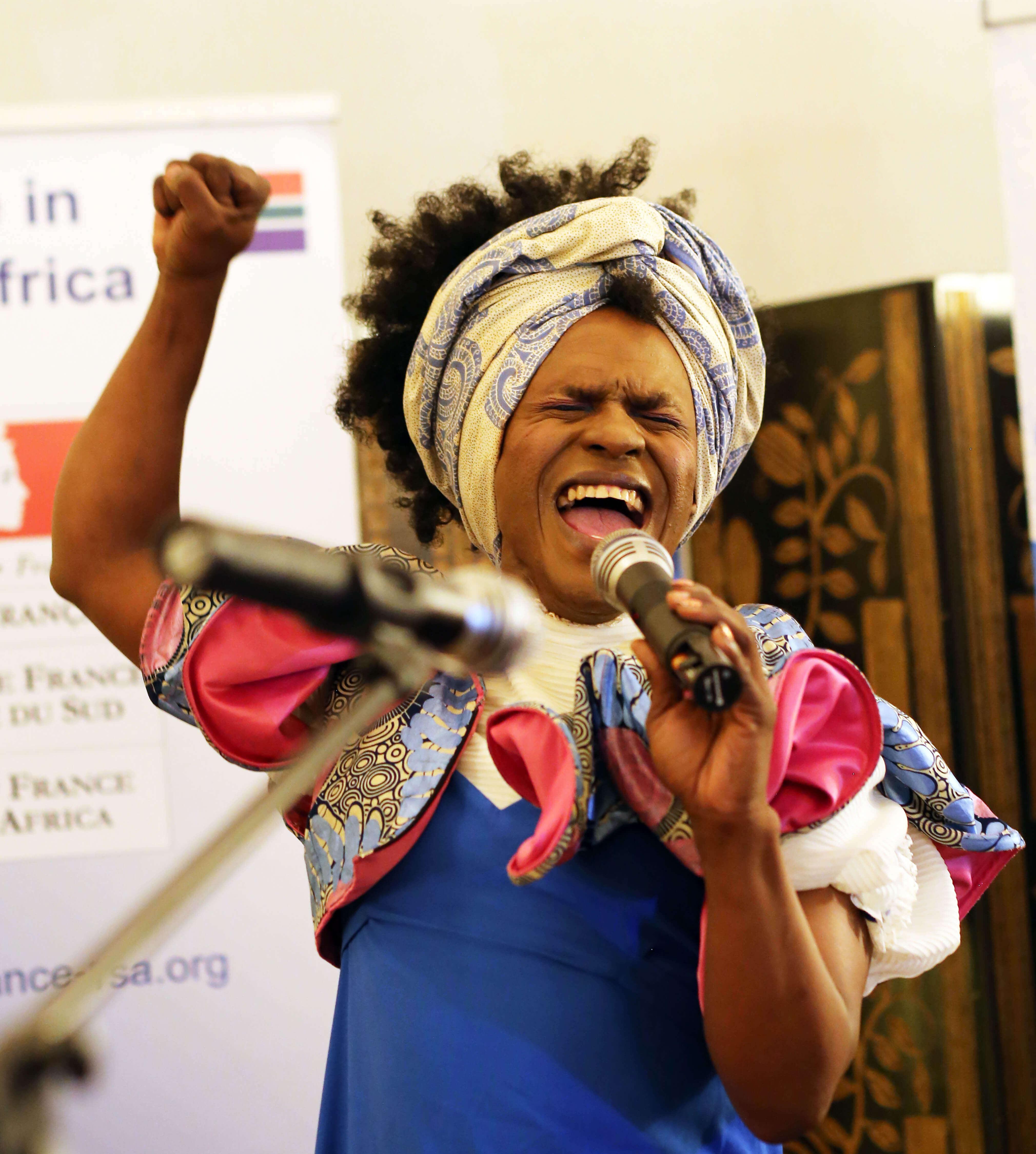 Odidi Odidiva Mfenyana performing during the award ceremony. Photography: Lerato Dumse. Courtesy of the photographer.