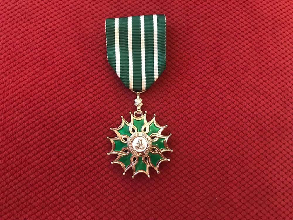 Chevalier des Arts et des Lettres (Knight in the Order of Arts and Letters)