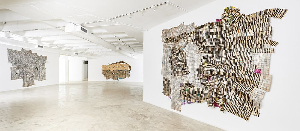 Installation view of Meyina. Courtesy of Goodman Gallery.