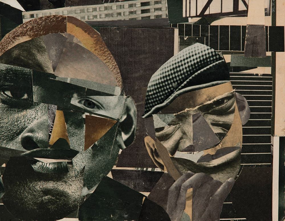 Romare Bearden, Pittsburgh Memory, 1964. Collage. Immagine gentilmente concessa dalla South London Gallery.