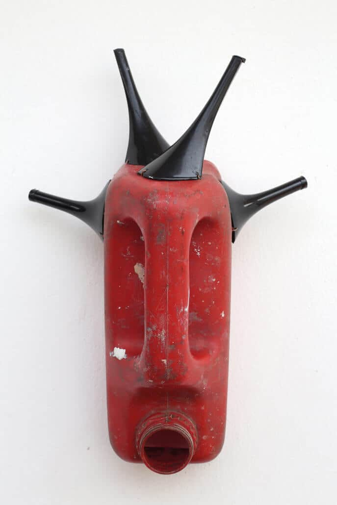 Romuald Hazoumè, Taillonné, 2015. Found objects, 35 x 24 x 15 cm. Courtesy of the Serge DeLeon Foundation.