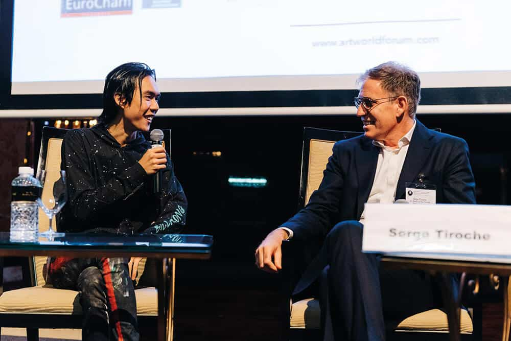 Ruben Pang in conversation with Serge Tiroche at Art World Forum, Singapore, 2016