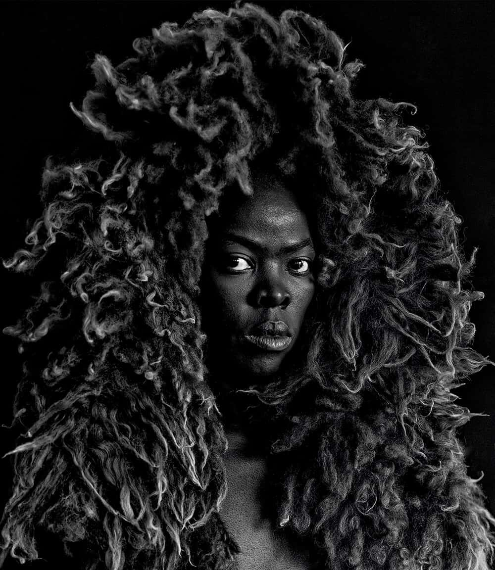 Zanele Muholi, Somnyama Ngonyama II from Somnyama Ngonyama, Oslo, 2015. © Zanele Muholi. Courtesy of Stevenson, Cape Town/Johannesburg and Yancey Richardson, New York.