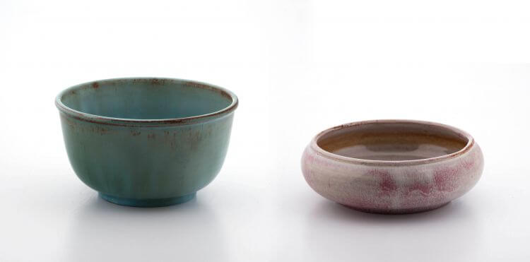 Lot 92 A Linn Ware mottled pink-glazed bowl, 1942-1955 R 800 - 1 200