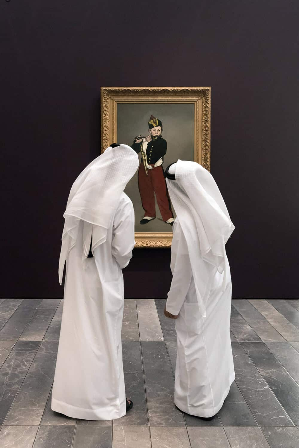 Inauguration of Louvre Abu Dhabi on November 8 2017. In front of The Gypsy, Edouard Manet. © Luc Castel