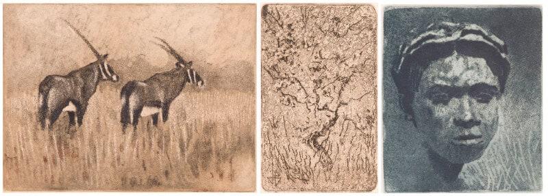 Lot 335 Johannes Blatt Oryx; Tree; Head, three R 2 000 - 3 000