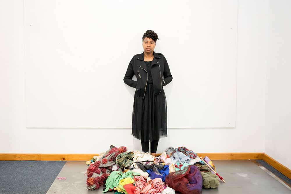 Georgina Maxim at her studio. Photographer: Cynthia R Matonhodze.