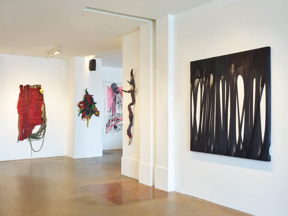 Installation shot of the exhibition, Right at the Equator. Courtesy of Valerie Kabov.