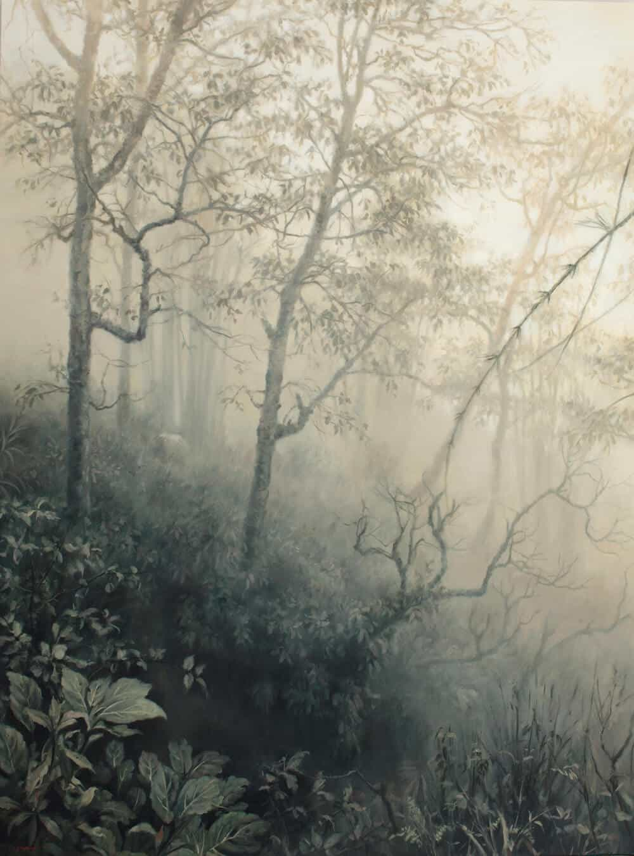 Jaco van Schalkwyk, Faraway Exotic, 2017. Öl auf belgischem Leinen, 175 × 130 cm. Mit freundlicher Genehmigung des Künstlers & Barnard.
