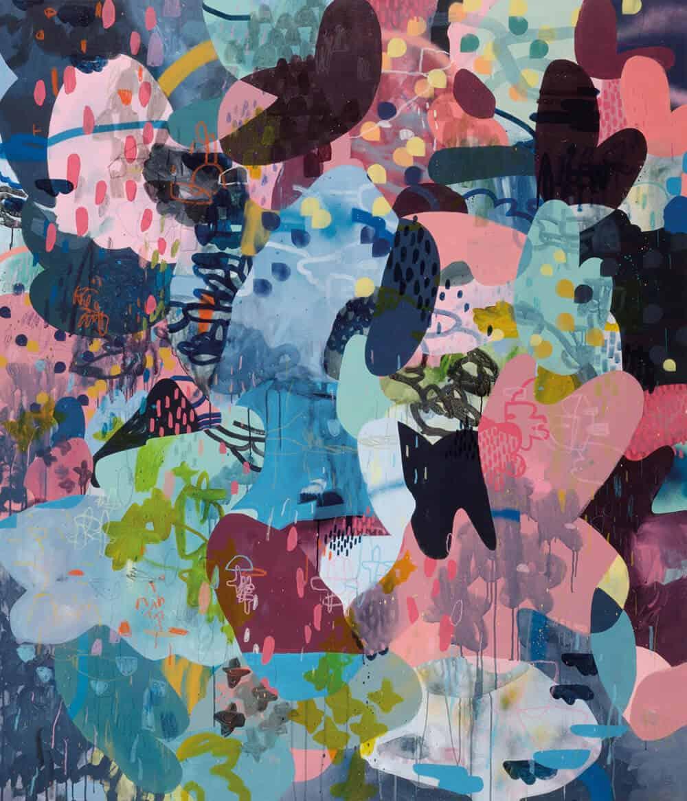 Paul Senyol, Reservation, 2017. Mixed media on canvas, 1750x1500mm. Courtesy of Salon Ninety One