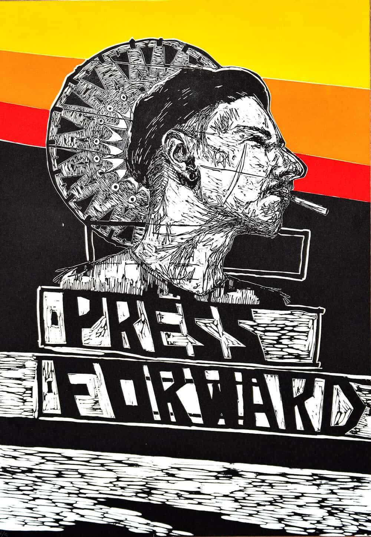 Nathaniel Sheppard, Press Forward, 2016.