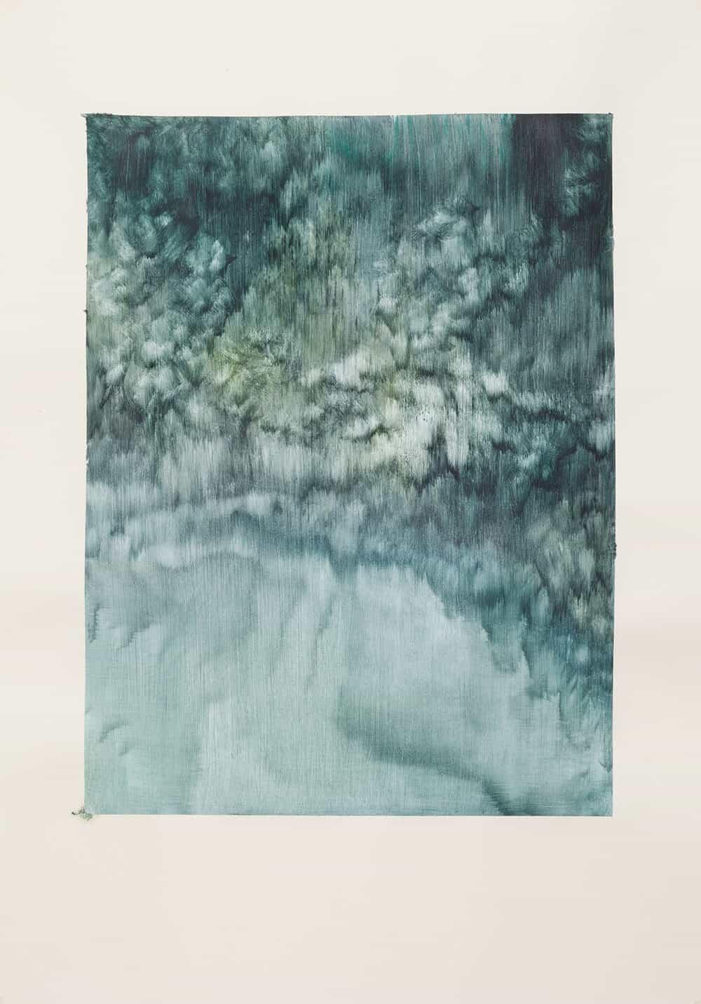 Zarah Cassim. So Familiar I, 2018. Oil on Paper. 600x420mm ( Unframed size).