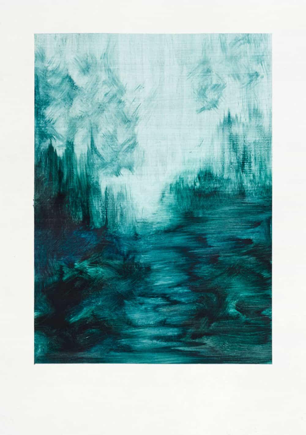 ZARAH CASSIM. Way. Oil on paper. 250 x 205mm. Framed