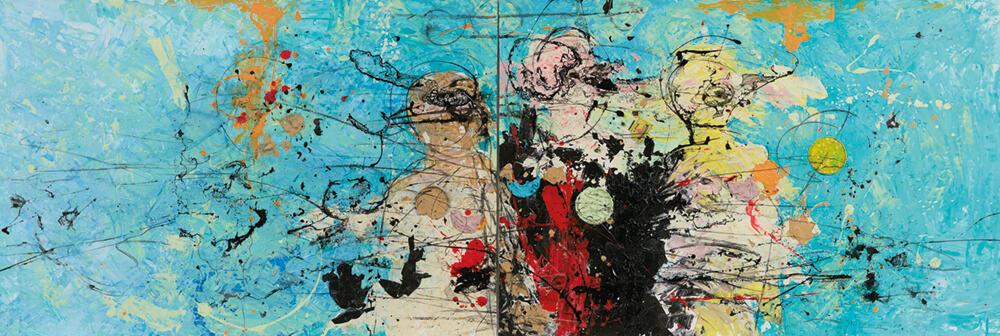 Daniel Stompie Selibe, The love i list / Deep tech, 2017. Mixed Medium on Fabriano. Courtesy of the artist & Berman Contemporary.