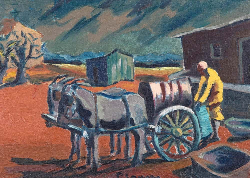 Lot 584 Gerard Sekoto The Donkey Water Carrier Sold R1 079 960