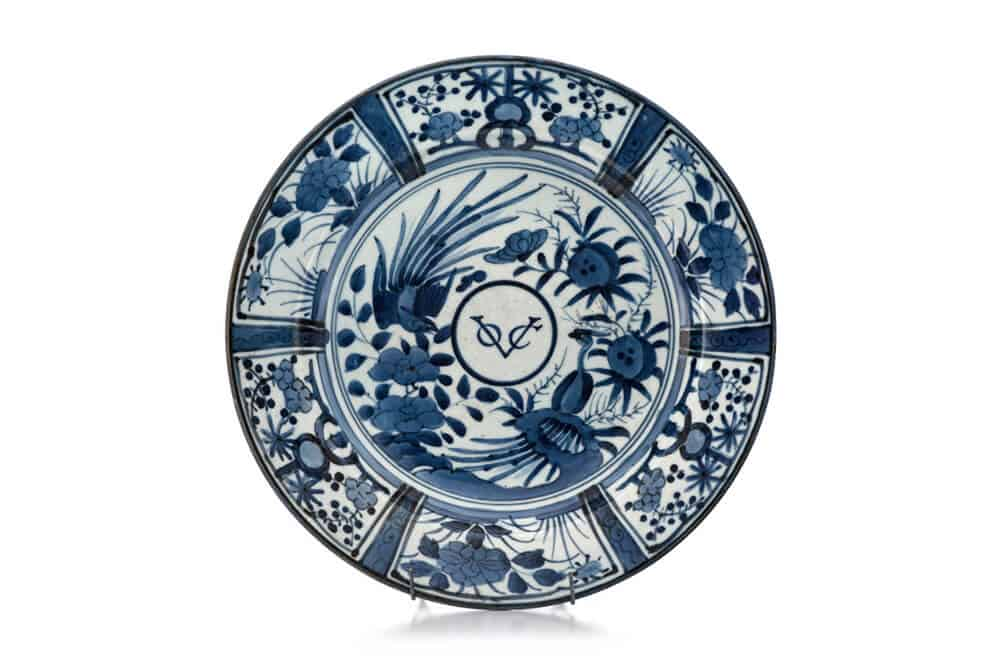 297  A Japanese blue and white Arita VOC dish, late 17th century Sold R511 560