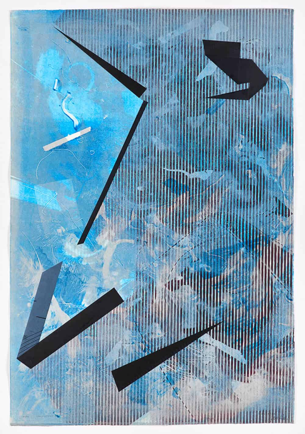 Bevan de Wet (with Io Makandal), Composition D I, 2017. Monotype, 78,5x54cm. Courtesy of the artist & Berman Contemporary.