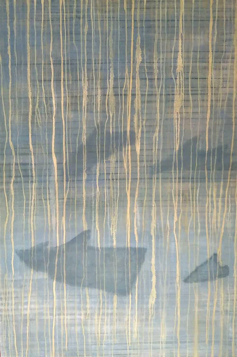 Hedi Turki, Bal des Orques, 1990. Oil on canvas, 89x130cm. Courtesy of the artist & Selma Fariani Gallery.
