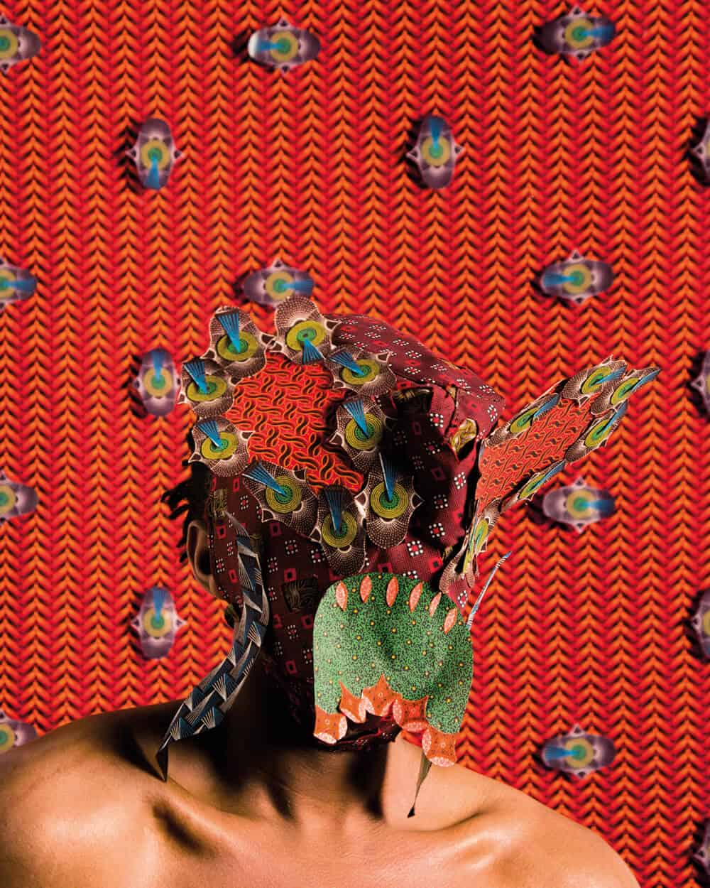 Siwa Mgoboza. Les Etres D'Africadia (Masquer) I. 59.4 x 42 cm. Ed of 5. + 3AP copy