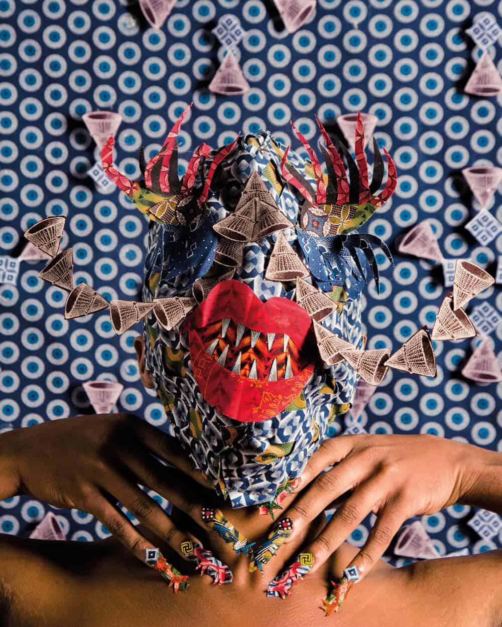 Siwa Mgoboza. Les Etres DAfricadia (Masquer) II. 59.2 x 42 cm. Ed di 5 + 3AP copia