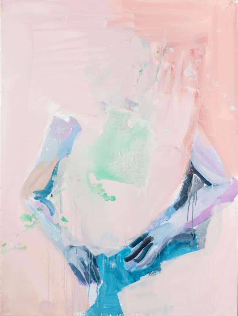 Banele Khoza, Una y otra vez, 2017. Acrílico sobre lienzo, 122 x 92 cm.