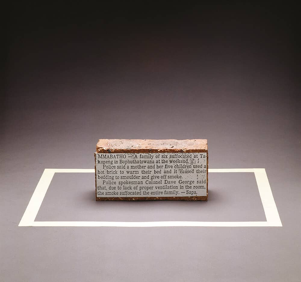 Kendell Geers, Brick, 1988. Image courtesy of the artist.