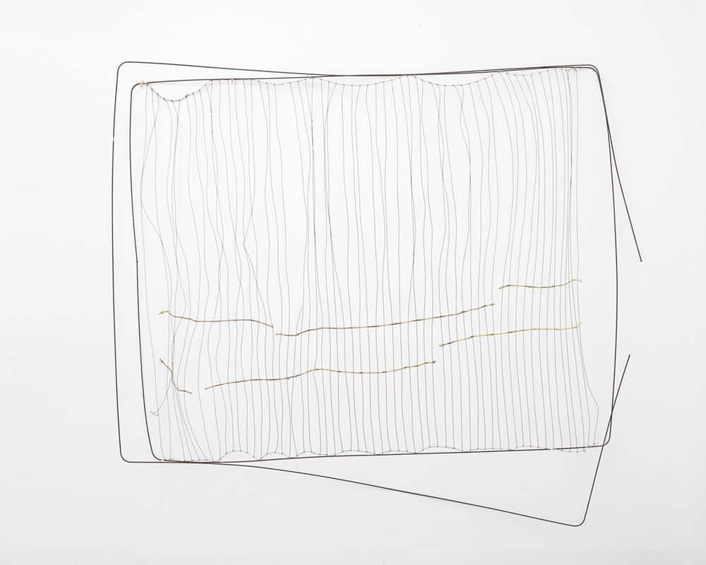 Koebye Hoerikwaggo, 2017. Salvaged wire, 200 x 180 x 36cm.